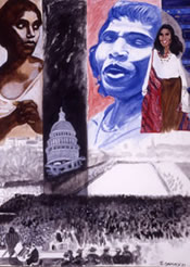 Painting of Marian Anderson